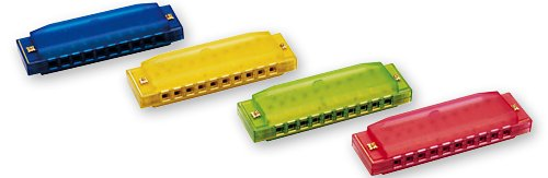 Kids Clearly Colorful Translucent Harmonica, Assorted Colors