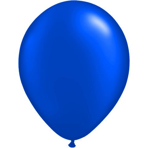 """Qualatex 16"""" Round Balloons, Radiant Colors - Pearlized (Sapphire Blue Pearl)"""