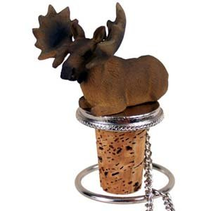Moose Bottle Stopper (Bull) by Conversation Concepts by Conversation Concepts