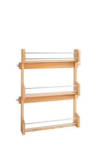 (Rev-A-Shelf - 4SR-21 - Large Cabinet Door Mount Wood 3-Shelf Spice Rack)