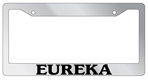 (Zoomber Eureka Chrome Stainless Steel License Plate Frame EBSK)