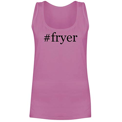 The Town Butler #Fryer - A Soft & Comfortable Hashtag Women's Tank Top, Pink, XX-Large
