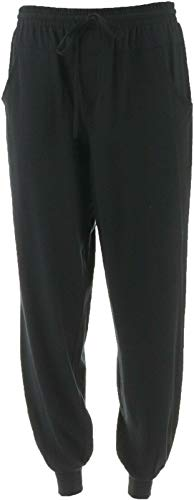 AnyBody Cozy Knit Jogger Pants Seaming Black L New A349792 from AnyBody