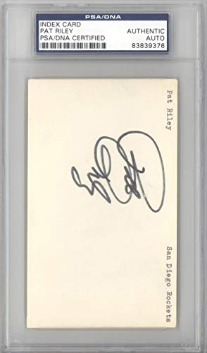 Pat Riley Autographed 3x5 Index Card Los Angeles Lakers #83839376 PSA/DNA Certified NBA Cut Signatures