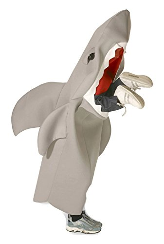 Boys Shark Costumes (Rasta Imposta Lil' Man-Eating Shark Children's Costume, 7-10, Gray)