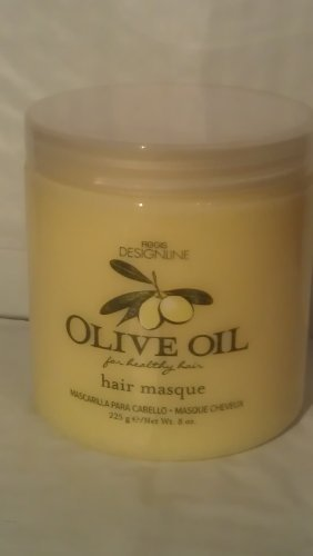 Olive Oil Hair Masque, 8 oz - Regis DESIGNLINE - Contains Nourishing Vitamins and Minerals that Repair, Protect, and Restore Damaged Hair for a Soft, Strengthening Effect ()