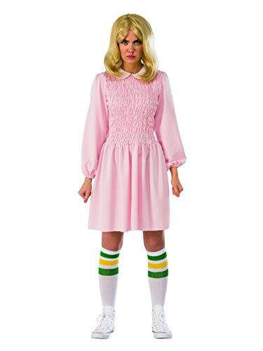 Rubie's Women's Stranger Things Season 1 Adult Eleven Replica Costume Dress, Pink, Standard