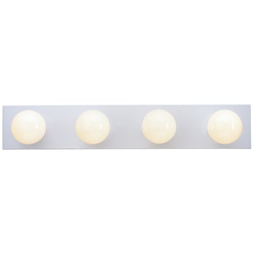 Westinghouse Lighting Lighting 6659500 4-Light Interior Bath Bar, White Finish