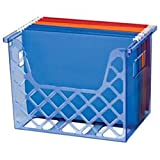 Officemate OIC Blue Glacier Desktop File Organizer, Transparent Blue (23221)