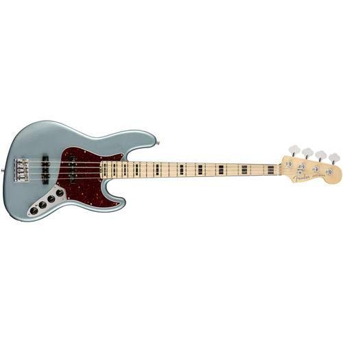 Fender American Elite Jazz Bass - Satin Ice Blue Metallic w/Maple Fingerboard ()