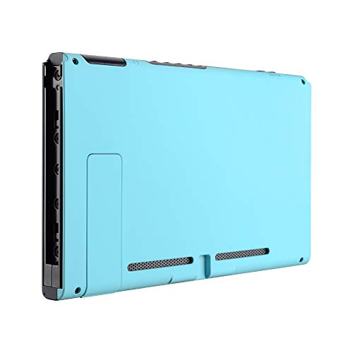 eXtremeRate Soft Touch Grip Heaven Blue Console Back Plate DIY Replacement Housing Shell Case for Nintendo Switch Console with Kickstand - JoyCon Shell NOT Included
