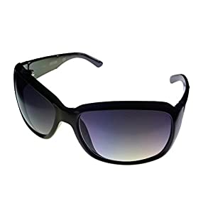 Kenneth Cole Reaction Womens KC1103 Rectangle Fashion Sunglasses, Black