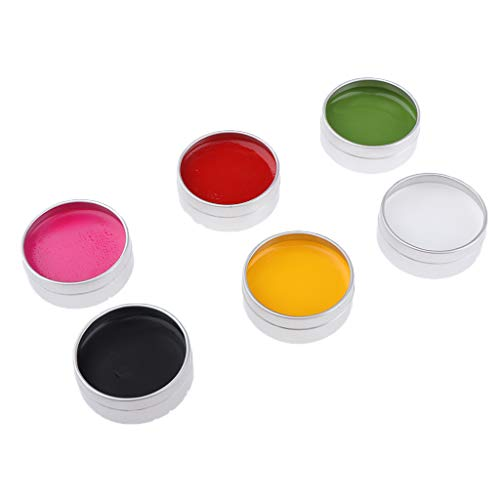 Fenteer 6 Colors Waterproof Face Painting Body Paints Halloween Makeup Girls Makeover Costume Facepainting Supplies Palette -