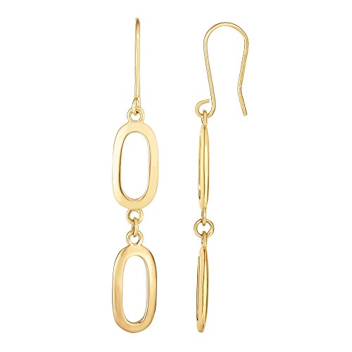 Yellow Gold Oval Link Drop - 5
