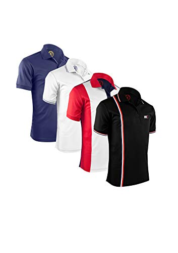 Albert Morris Men Polo Shirt 4 Pack - Padrisimo Pack, Short Sleeve (Large)