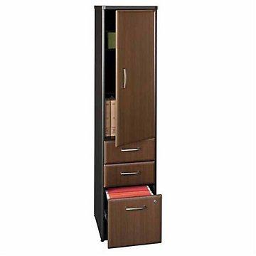 (Vertical Locker Assembled (Savannah Beech/Slate Gray Base))