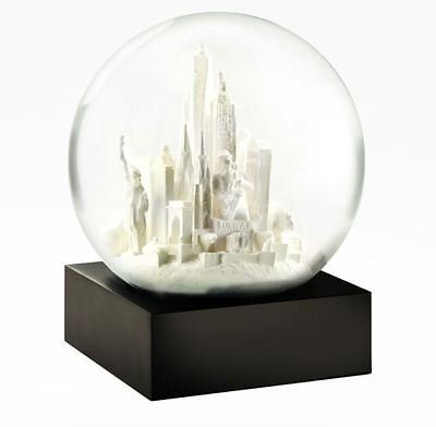 CoolSnowGlobes NYC New York City White Unique Chillingly Beautiful Glass Snow - Nyc Glasses Store