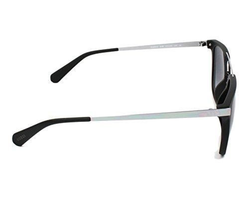23f49589655fa4 ... Guess lunettes de soleil carré double pont en noir mat GU6922 02B 53  Gradient Grey Matte