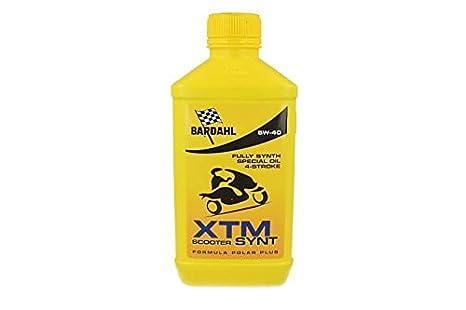 Bardahl Moto XTM Scooter synt 5 W40 Aceite para transmisiones Motor de moto de 4 tiempos 1 litro: Amazon.es: Coche y moto