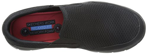 Skechers Men's Black Flex Advantage Slip Resistant Mcallen Slip On - 10.5 D(M) US by Skechers (Image #8)