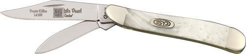 Case Cutlery 9220WP Peanut Pocket Knife with Stainless Steel Blades, White Pearl Corelon