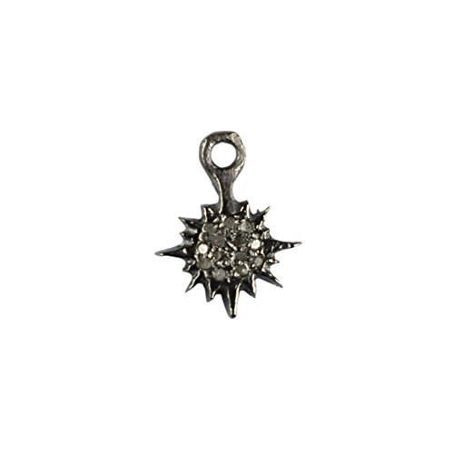 Black Friday Special New Designed Natural Pave Diamond Sun Charm Pendant 925 Sterling Silver Finding Jewelry