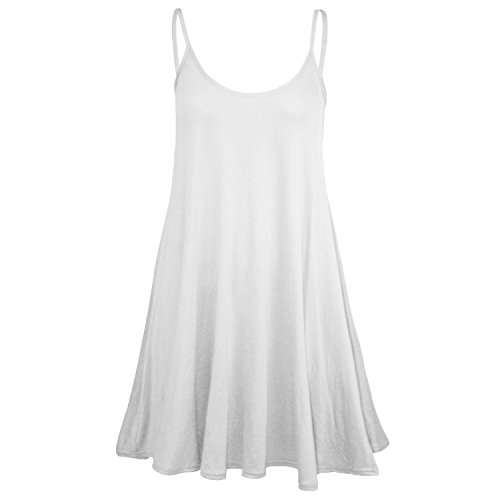 Price comparison product image Womens Plain Sleeveless Strappy Swing Dress