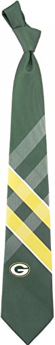 NFL Green Bay Packers Men's Woven Polyester Grid Necktie, One Size, Multicolor
