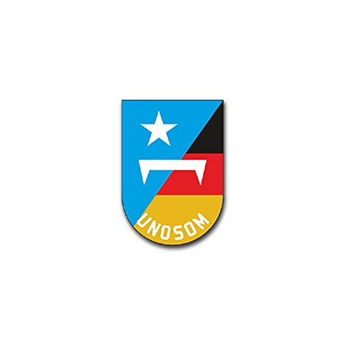 (UNOSOM United Nations Operation in Somalia Peace Mission Coat of Arms Military Badge Emblem for Audi A3 BMW 3 VW Golf GTI Mercedes (7x5cm) - Sticker Wall Decoration)