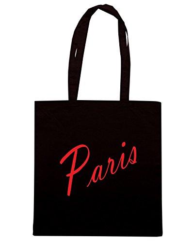 T-Shirtshock - Bolsa para la compra OLDENG00605 paris products Negro