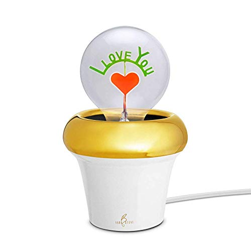 Royal Pot - White Porcelain | Novelty Night Light | Lamp x 1pc (Light Bulb Not Included) | Special Offer and Product Promotion, Get Free Light Bulb | 1-Year Warranty (Light Bulb not Applied)