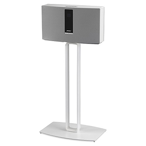 SoundXtra Floor Stand for Bose SoundTouch 30 - Single (White) by SoundXtra