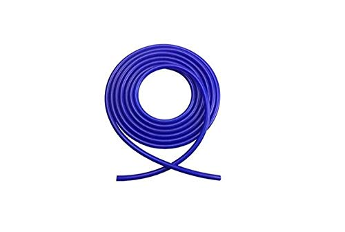 FMtoppeak Autos Car 4mm Blue Silicone Vacuum Tube Hose Pipe Silicon Tubing 16.4ft 5 Meters