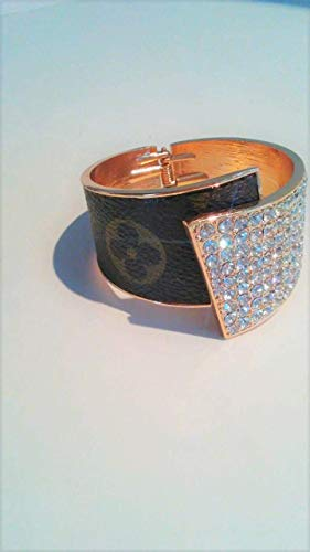 eee92cf88d Amazon.com: Louis Vuitton upcycled, Cuff Fleur Bracelet handcrafted ...