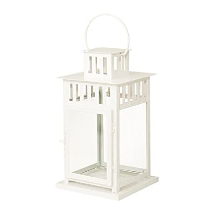 Hypermoderne IKEA BORRBY - Lantern for block candle, white in/outdoor white IH-48