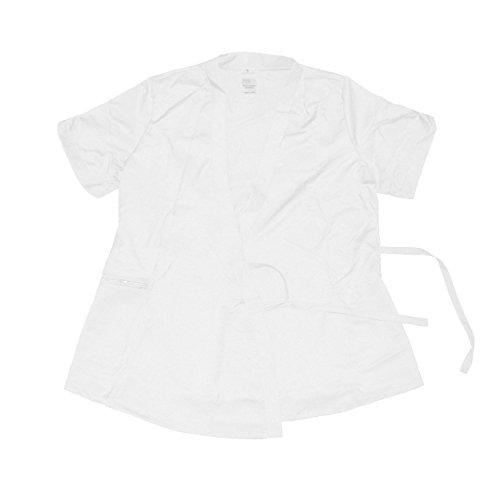 Betty Dain Signature Vita Salon Stylist Jacket, White, S (Shirt Dain Betty Big)