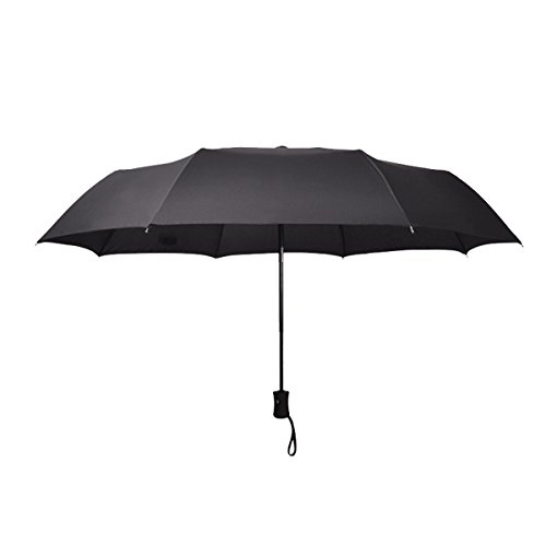 Compact Travel Umbrella - Windproof,Reinforced Canopy,Auto Open/Close by KaKa Shaw (Image #1)