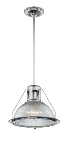 Quoizel QPP1198C Keaton 1 Light 13.5-Feet Diameter Rod Hung Piccolo Pendant -