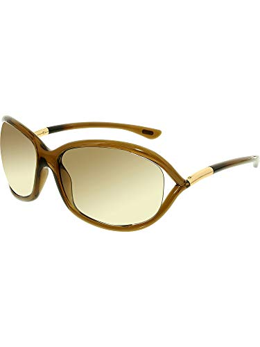 Tom Ford Jennifer FT0008 Sunglasses-692 Dark Brown (Gradient Brown Lens)-61mm (Ford Sunglasses Tom)