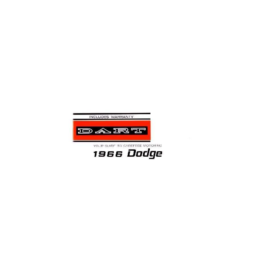 1966 DODGE DART Owners Manual User Guide
