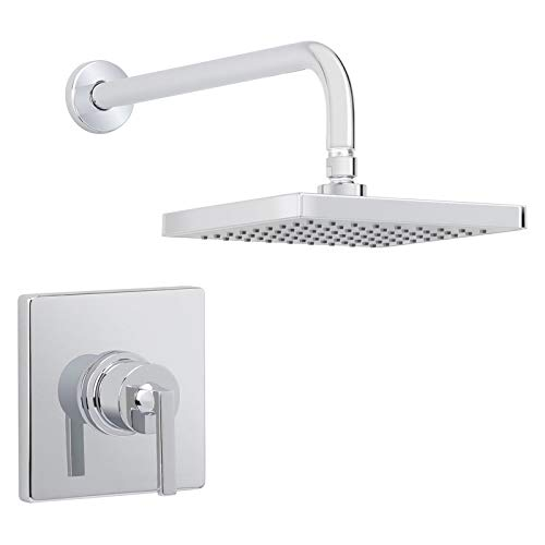 Function Package - Miseno MS-650625-R-CP Elysa Shower Trim Package with Single Function Rain Shower Head
