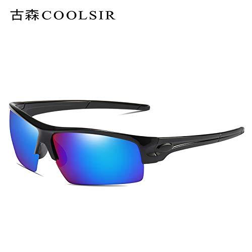 1 nbsp;colorées Homme Soleil Black Sports Lunettes Mjia Lunettes pour Miroir polarisées sunglasses de box de nbsp;polarisées équitation Sport Plein de air qTpwxRpXF