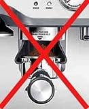 Largemouth Short Espresso coffee funnel dosage