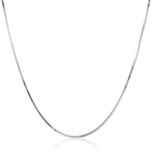 Pori Jewelers 925 Sterling Silver .7MM Magic 8 Sided Italian Snake Chain - for Women - Made in Italy (Silver, 18)