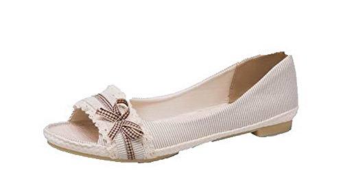 Assortiti Voguezone009 Donne Tirare Beige Fondono Colori Si sui Sandali Materiali Delle 6TqwnAp