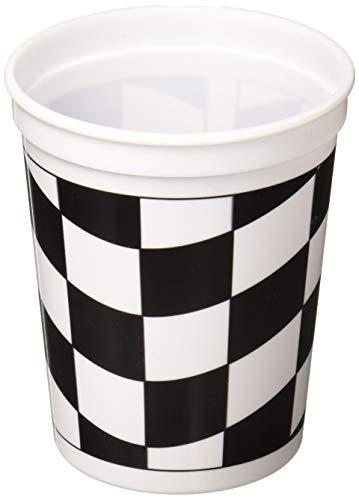 Creative Converting Printed Plastic Cup, 16 oz, Black/White