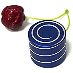 TotogoToys Vortecon Kinetic Desk Toy,Stainless Steel Toy with Mind-bending Optical Illusion of Continuously Flowing Helix, Silent Hypnotic Top Adult Office Pressure Fidget Relief Gifts - Blue