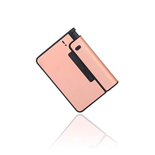 (Aolvo Aluminium Cigarette Case with Lighter Warehouse, Pocket Size Full Pack 10 Regular Cigarettes Automatic Ejection Cigarette Storage Box for Men, Women (Rose Gold))