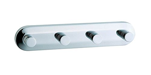 Studio Quadruple Towel Hook in Polished Chrome Finish by Smedbo