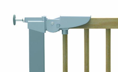 babydan 53217-2795-02-85 Avantgarde Schutzgitter T/ür und Treppenschutz zum Klemmen 71.3-110.6 cm buche//silber